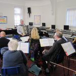 Ian Robertson leading the Musicians' Workshop