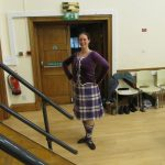 Elaine before her highland dance display